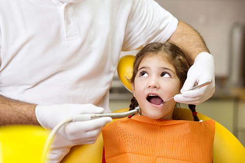 waterford dentist - girl having teeth checked